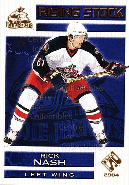 2003-04 Private Stock Rising Stock #5 Rick Nash<br/>5 In Stock - $3.00 each - <a href=https://centericecollectibles.foxycart.com/cart?name=2003-04%20Private%20Stock%20Rising%20Stock%20%235%20Rick%20Nash...&quantity_max=5&price=$3.00&code=117361 class=foxycart> Buy it now! </a>