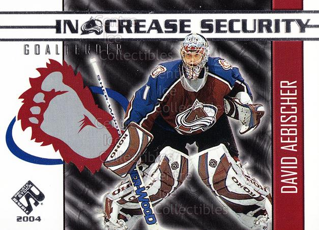 2003-04 Private Stock In Crease Security #5 David Aebischer<br/>8 In Stock - $3.00 each - <a href=https://centericecollectibles.foxycart.com/cart?name=2003-04%20Private%20Stock%20In%20Crease%20Security%20%235%20David%20Aebischer...&quantity_max=8&price=$3.00&code=117381 class=foxycart> Buy it now! </a>