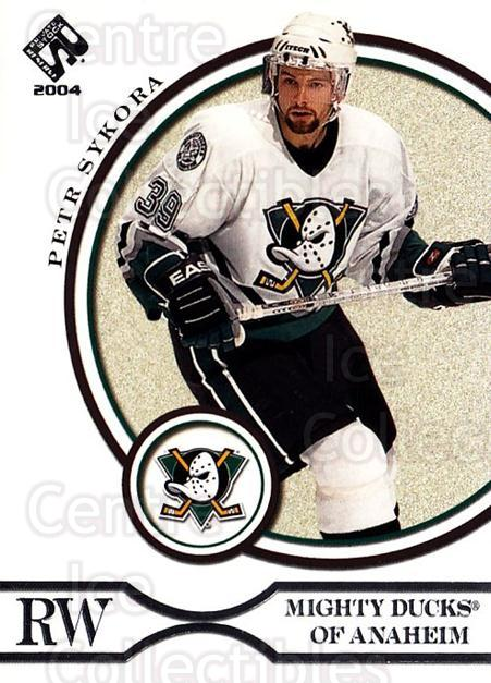 2003-04 Private Stock Retail #4 Petr Sykora<br/>6 In Stock - $1.00 each - <a href=https://centericecollectibles.foxycart.com/cart?name=2003-04%20Private%20Stock%20Retail%20%234%20Petr%20Sykora...&quantity_max=6&price=$1.00&code=117469 class=foxycart> Buy it now! </a>
