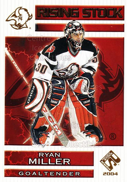 2003-04 Private Stock Rising Stock #3 Ryan Miller<br/>3 In Stock - $3.00 each - <a href=https://centericecollectibles.foxycart.com/cart?name=2003-04%20Private%20Stock%20Rising%20Stock%20%233%20Ryan%20Miller...&quantity_max=3&price=$3.00&code=117534 class=foxycart> Buy it now! </a>