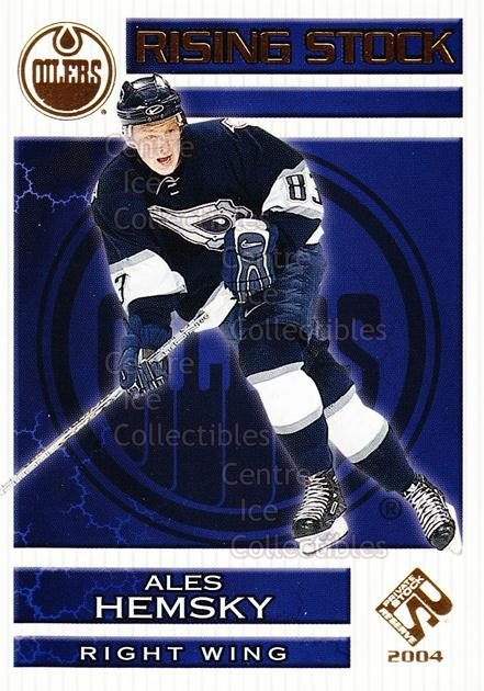 2003-04 Private Stock Rising Stock #7 Ales Hemsky<br/>6 In Stock - $2.00 each - <a href=https://centericecollectibles.foxycart.com/cart?name=2003-04%20Private%20Stock%20Rising%20Stock%20%237%20Ales%20Hemsky...&quantity_max=6&price=$2.00&code=117536 class=foxycart> Buy it now! </a>