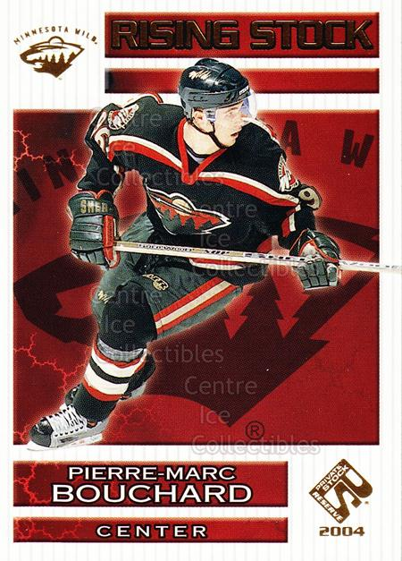 2003-04 Private Stock Rising Stock #9 Pierre-Marc Bouchard<br/>6 In Stock - $2.00 each - <a href=https://centericecollectibles.foxycart.com/cart?name=2003-04%20Private%20Stock%20Rising%20Stock%20%239%20Pierre-Marc%20Bou...&quantity_max=6&price=$2.00&code=117538 class=foxycart> Buy it now! </a>
