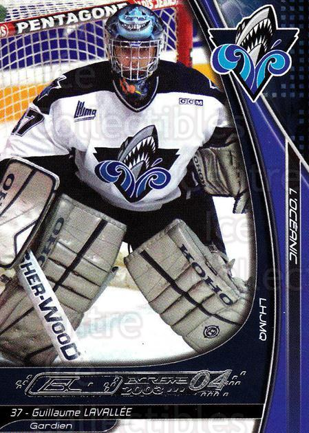 2003-04 Rimouski Oceanic #13 Guillaume Lavallee<br/>5 In Stock - $3.00 each - <a href=https://centericecollectibles.foxycart.com/cart?name=2003-04%20Rimouski%20Oceanic%20%2313%20Guillaume%20Laval...&quantity_max=5&price=$3.00&code=117635 class=foxycart> Buy it now! </a>
