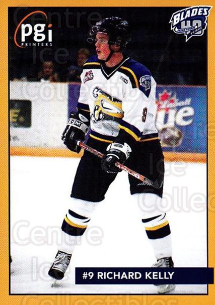 2003-04 Saskatoon Blades #10 Richard Kelly<br/>5 In Stock - $3.00 each - <a href=https://centericecollectibles.foxycart.com/cart?name=2003-04%20Saskatoon%20Blades%20%2310%20Richard%20Kelly...&quantity_max=5&price=$3.00&code=117903 class=foxycart> Buy it now! </a>