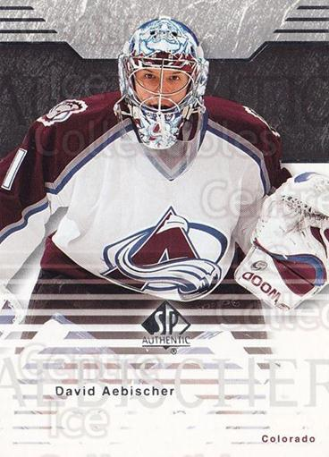 2003-04 SP Authentic #19 David Aebischer<br/>6 In Stock - $1.00 each - <a href=https://centericecollectibles.foxycart.com/cart?name=2003-04%20SP%20Authentic%20%2319%20David%20Aebischer...&quantity_max=6&price=$1.00&code=118040 class=foxycart> Buy it now! </a>