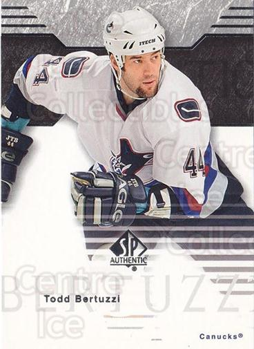 2003-04 SP Authentic #87 Todd Bertuzzi<br/>6 In Stock - $1.00 each - <a href=https://centericecollectibles.foxycart.com/cart?name=2003-04%20SP%20Authentic%20%2387%20Todd%20Bertuzzi...&quantity_max=6&price=$1.00&code=118114 class=foxycart> Buy it now! </a>