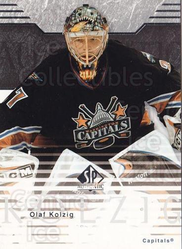 2003-04 SP Authentic #89 Olaf Kolzig<br/>6 In Stock - $1.00 each - <a href=https://centericecollectibles.foxycart.com/cart?name=2003-04%20SP%20Authentic%20%2389%20Olaf%20Kolzig...&quantity_max=6&price=$1.00&code=118116 class=foxycart> Buy it now! </a>