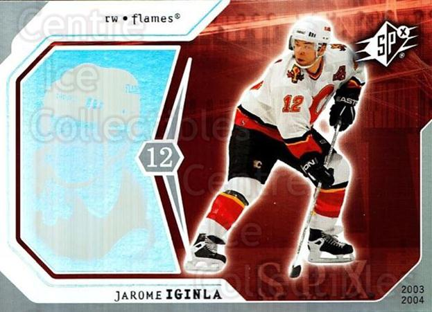 2003-04 SPx #13 Jarome Iginla<br/>6 In Stock - $1.00 each - <a href=https://centericecollectibles.foxycart.com/cart?name=2003-04%20SPx%20%2313%20Jarome%20Iginla...&quantity_max=6&price=$1.00&code=118227 class=foxycart> Buy it now! </a>