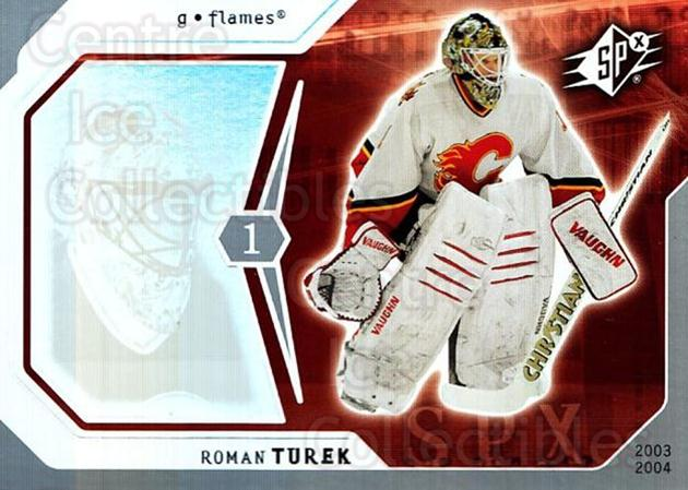 2003-04 SPx #14 Roman Turek<br/>4 In Stock - $1.00 each - <a href=https://centericecollectibles.foxycart.com/cart?name=2003-04%20SPx%20%2314%20Roman%20Turek...&quantity_max=4&price=$1.00&code=118229 class=foxycart> Buy it now! </a>