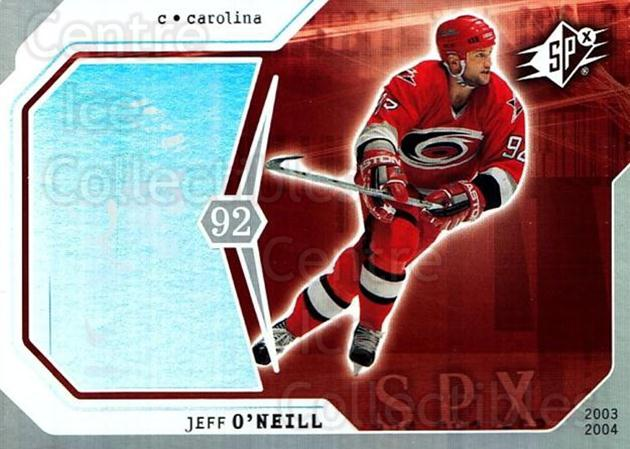2003-04 SPx #17 Jeff O'Neill<br/>4 In Stock - $1.00 each - <a href=https://centericecollectibles.foxycart.com/cart?name=2003-04%20SPx%20%2317%20Jeff%20O'Neill...&quantity_max=4&price=$1.00&code=118232 class=foxycart> Buy it now! </a>