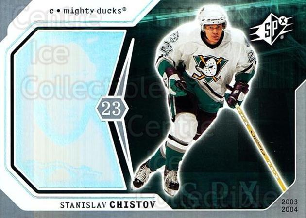 2003-04 SPx #2 Stanislav Chistov<br/>4 In Stock - $1.00 each - <a href=https://centericecollectibles.foxycart.com/cart?name=2003-04%20SPx%20%232%20Stanislav%20Chist...&quantity_max=4&price=$1.00&code=118242 class=foxycart> Buy it now! </a>