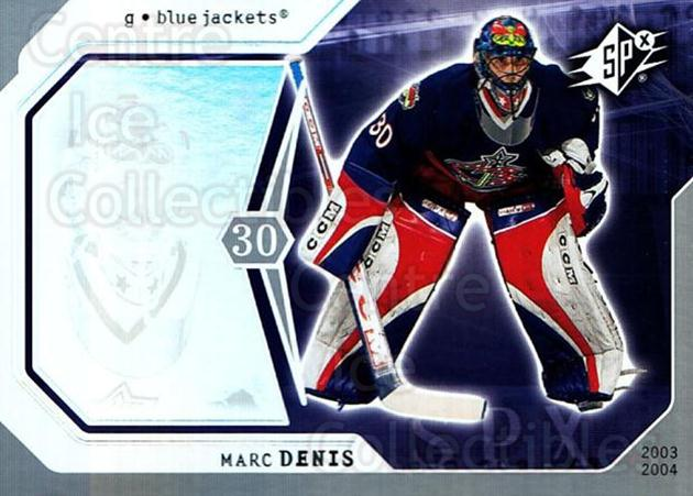 2003-04 SPx #26 Marc Denis<br/>4 In Stock - $1.00 each - <a href=https://centericecollectibles.foxycart.com/cart?name=2003-04%20SPx%20%2326%20Marc%20Denis...&quantity_max=4&price=$1.00&code=118254 class=foxycart> Buy it now! </a>