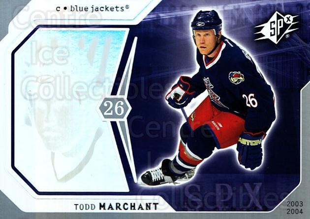 2003-04 SPx #28 Todd Marchant<br/>6 In Stock - $1.00 each - <a href=https://centericecollectibles.foxycart.com/cart?name=2003-04%20SPx%20%2328%20Todd%20Marchant...&quantity_max=6&price=$1.00&code=118256 class=foxycart> Buy it now! </a>