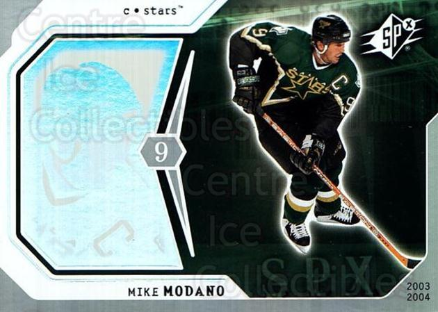2003-04 SPx #31 Mike Modano<br/>4 In Stock - $1.00 each - <a href=https://centericecollectibles.foxycart.com/cart?name=2003-04%20SPx%20%2331%20Mike%20Modano...&quantity_max=4&price=$1.00&code=118260 class=foxycart> Buy it now! </a>