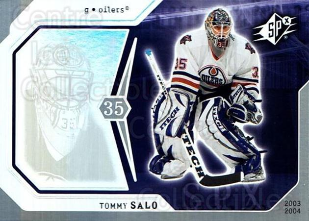 2003-04 SPx #38 Tommy Salo<br/>6 In Stock - $1.00 each - <a href=https://centericecollectibles.foxycart.com/cart?name=2003-04%20SPx%20%2338%20Tommy%20Salo...&quantity_max=6&price=$1.00&code=118267 class=foxycart> Buy it now! </a>