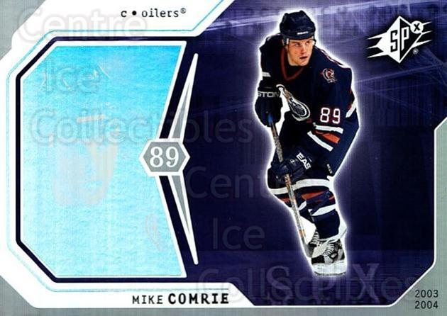 2003-04 SPx #39 Mike Comrie<br/>9 In Stock - $1.00 each - <a href=https://centericecollectibles.foxycart.com/cart?name=2003-04%20SPx%20%2339%20Mike%20Comrie...&quantity_max=9&price=$1.00&code=118268 class=foxycart> Buy it now! </a>