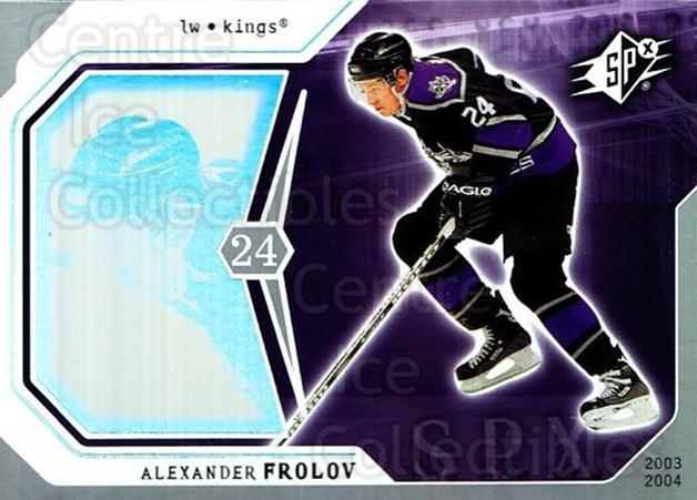 2003-04 SPx #45 Alexander Frolov<br/>8 In Stock - $1.00 each - <a href=https://centericecollectibles.foxycart.com/cart?name=2003-04%20SPx%20%2345%20Alexander%20Frolo...&quantity_max=8&price=$1.00&code=118275 class=foxycart> Buy it now! </a>