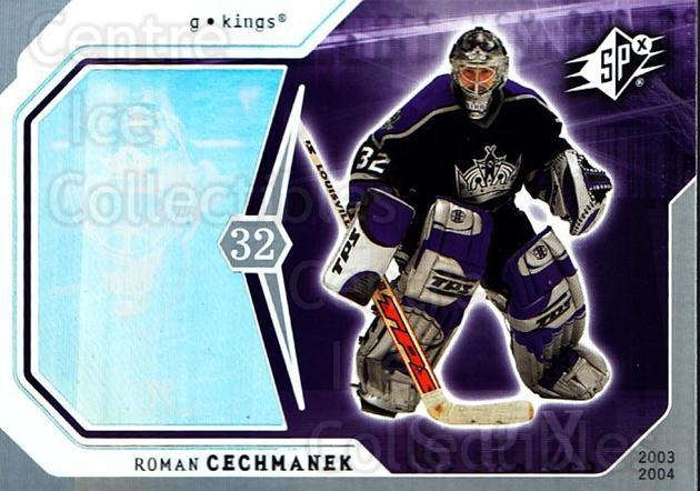 2003-04 SPx #46 Roman Cechmanek<br/>3 In Stock - $1.00 each - <a href=https://centericecollectibles.foxycart.com/cart?name=2003-04%20SPx%20%2346%20Roman%20Cechmanek...&quantity_max=3&price=$1.00&code=118276 class=foxycart> Buy it now! </a>