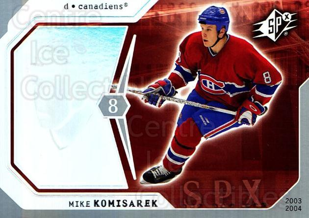 2003-04 SPx #52 Mike Komisarek<br/>3 In Stock - $1.00 each - <a href=https://centericecollectibles.foxycart.com/cart?name=2003-04%20SPx%20%2352%20Mike%20Komisarek...&quantity_max=3&price=$1.00&code=118283 class=foxycart> Buy it now! </a>