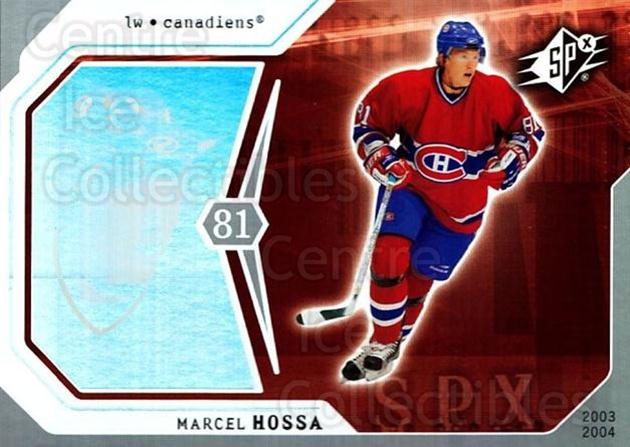 2003-04 SPx #53 Marcel Hossa<br/>1 In Stock - $1.00 each - <a href=https://centericecollectibles.foxycart.com/cart?name=2003-04%20SPx%20%2353%20Marcel%20Hossa...&quantity_max=1&price=$1.00&code=118284 class=foxycart> Buy it now! </a>