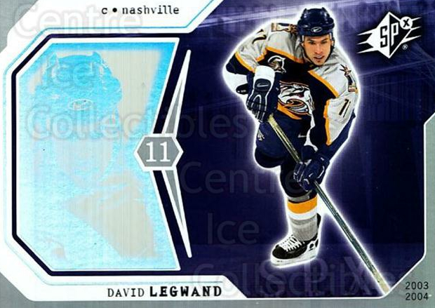 2003-04 SPx #55 David Legwand<br/>5 In Stock - $1.00 each - <a href=https://centericecollectibles.foxycart.com/cart?name=2003-04%20SPx%20%2355%20David%20Legwand...&quantity_max=5&price=$1.00&code=118286 class=foxycart> Buy it now! </a>