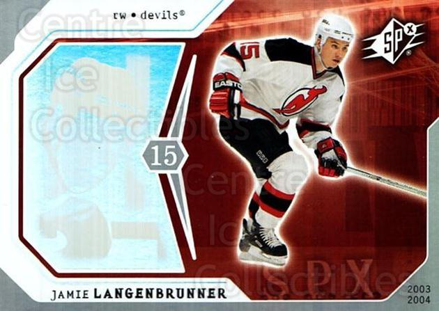 2003-04 SPx #59 Jamie Langenbrunner<br/>7 In Stock - $1.00 each - <a href=https://centericecollectibles.foxycart.com/cart?name=2003-04%20SPx%20%2359%20Jamie%20Langenbru...&quantity_max=7&price=$1.00&code=118290 class=foxycart> Buy it now! </a>