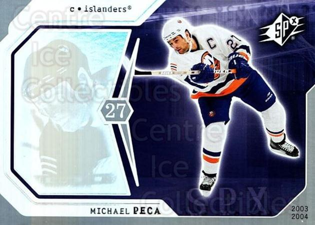 2003-04 SPx #62 Mike Peca<br/>9 In Stock - $1.00 each - <a href=https://centericecollectibles.foxycart.com/cart?name=2003-04%20SPx%20%2362%20Mike%20Peca...&quantity_max=9&price=$1.00&code=118294 class=foxycart> Buy it now! </a>