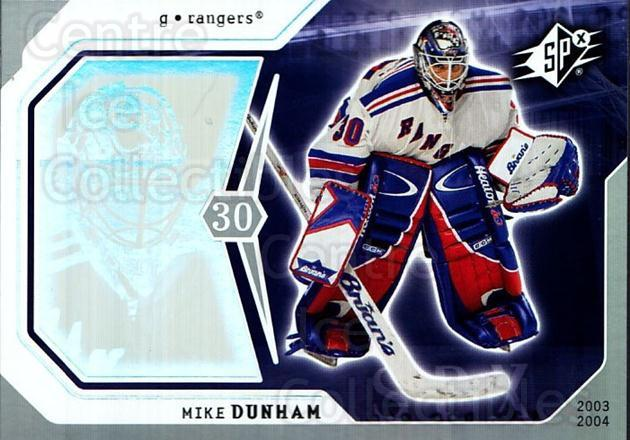 2003-04 SPx #63 Mike Dunham<br/>8 In Stock - $1.00 each - <a href=https://centericecollectibles.foxycart.com/cart?name=2003-04%20SPx%20%2363%20Mike%20Dunham...&quantity_max=8&price=$1.00&code=118295 class=foxycart> Buy it now! </a>