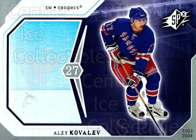 2003-04 SPx #65 Alexei Kovalev<br/>7 In Stock - $1.00 each - <a href=https://centericecollectibles.foxycart.com/cart?name=2003-04%20SPx%20%2365%20Alexei%20Kovalev...&quantity_max=7&price=$1.00&code=118297 class=foxycart> Buy it now! </a>