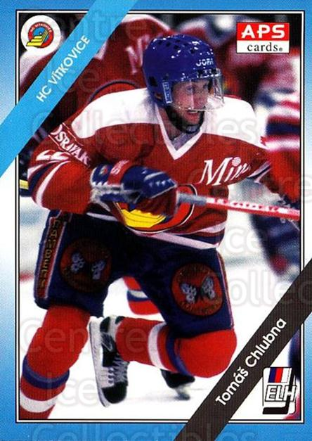 1994-95 Czech APS Extraliga #132 Tomas Chlubna<br/>7 In Stock - $2.00 each - <a href=https://centericecollectibles.foxycart.com/cart?name=1994-95%20Czech%20APS%20Extraliga%20%23132%20Tomas%20Chlubna...&quantity_max=7&price=$2.00&code=1182 class=foxycart> Buy it now! </a>