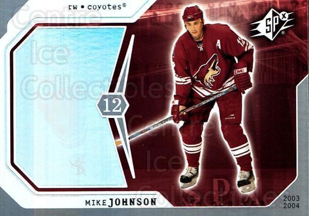 2003-04 SPx #76 Mike Johnson<br/>5 In Stock - $1.00 each - <a href=https://centericecollectibles.foxycart.com/cart?name=2003-04%20SPx%20%2376%20Mike%20Johnson...&quantity_max=5&price=$1.00&code=118309 class=foxycart> Buy it now! </a>