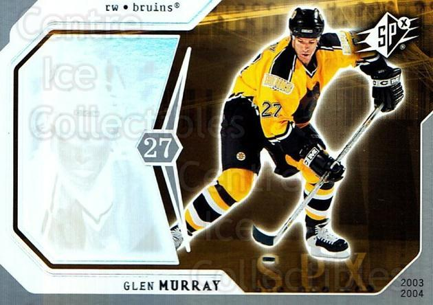 2003-04 SPx #8 Glen Murray<br/>5 In Stock - $1.00 each - <a href=https://centericecollectibles.foxycart.com/cart?name=2003-04%20SPx%20%238%20Glen%20Murray...&quantity_max=5&price=$1.00&code=118312 class=foxycart> Buy it now! </a>
