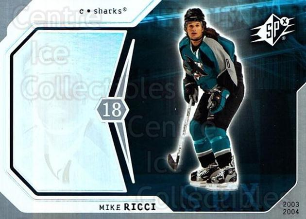 2003-04 SPx #82 Mike Ricci<br/>6 In Stock - $1.00 each - <a href=https://centericecollectibles.foxycart.com/cart?name=2003-04%20SPx%20%2382%20Mike%20Ricci...&quantity_max=6&price=$1.00&code=118315 class=foxycart> Buy it now! </a>
