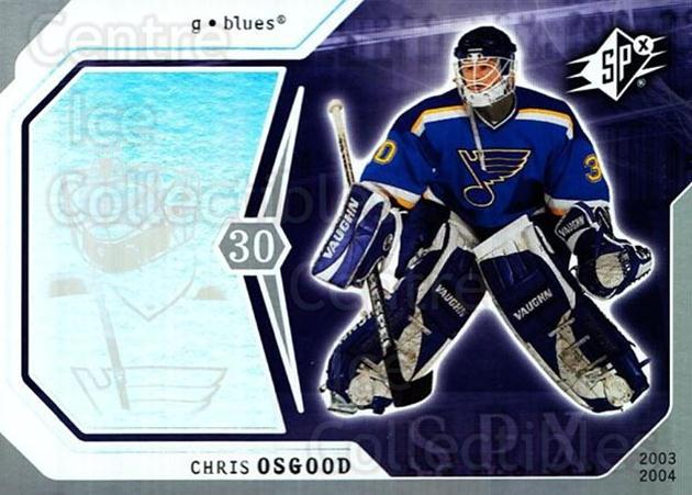2003-04 SPx #83 Chris Osgood<br/>5 In Stock - $1.00 each - <a href=https://centericecollectibles.foxycart.com/cart?name=2003-04%20SPx%20%2383%20Chris%20Osgood...&quantity_max=5&price=$1.00&code=118316 class=foxycart> Buy it now! </a>