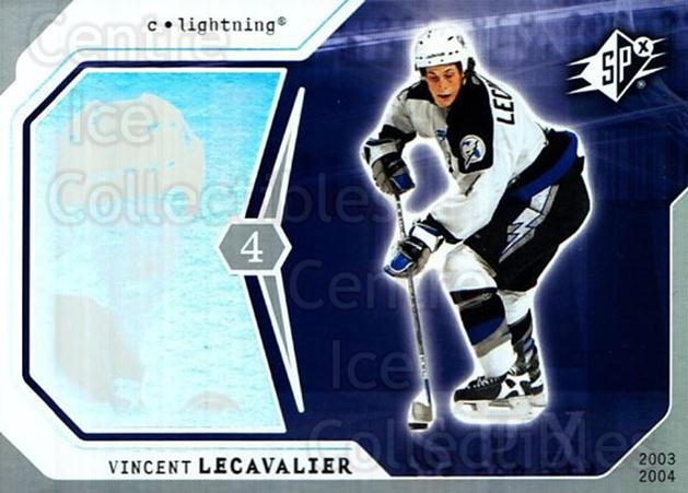 2003-04 SPx #89 Vincent Lecavalier<br/>3 In Stock - $1.00 each - <a href=https://centericecollectibles.foxycart.com/cart?name=2003-04%20SPx%20%2389%20Vincent%20Lecaval...&quantity_max=3&price=$1.00&code=118322 class=foxycart> Buy it now! </a>