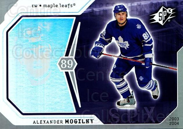 2003-04 SPx #91 Alexander Mogilny<br/>4 In Stock - $1.00 each - <a href=https://centericecollectibles.foxycart.com/cart?name=2003-04%20SPx%20%2391%20Alexander%20Mogil...&quantity_max=4&price=$1.00&code=118325 class=foxycart> Buy it now! </a>