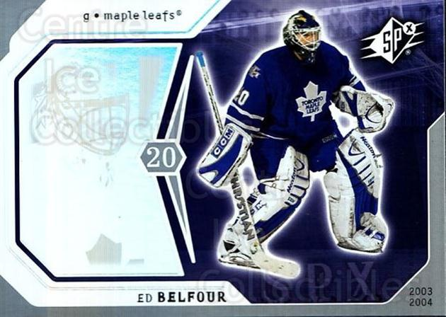 2003-04 SPx #92 Ed Belfour<br/>1 In Stock - $1.00 each - <a href=https://centericecollectibles.foxycart.com/cart?name=2003-04%20SPx%20%2392%20Ed%20Belfour...&quantity_max=1&price=$1.00&code=118326 class=foxycart> Buy it now! </a>