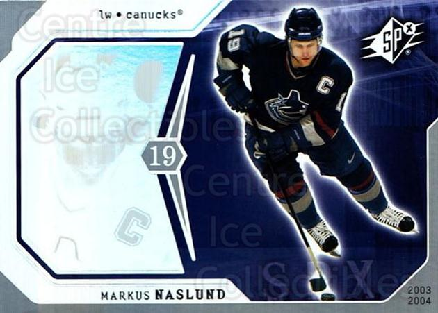2003-04 SPx #94 Markus Naslund<br/>6 In Stock - $1.00 each - <a href=https://centericecollectibles.foxycart.com/cart?name=2003-04%20SPx%20%2394%20Markus%20Naslund...&quantity_max=6&price=$1.00&code=118328 class=foxycart> Buy it now! </a>
