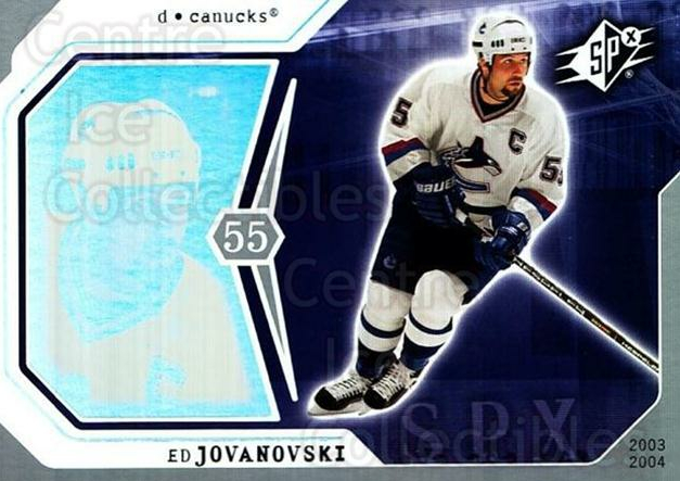 2003-04 SPx #97 Ed Jovanovski<br/>6 In Stock - $1.00 each - <a href=https://centericecollectibles.foxycart.com/cart?name=2003-04%20SPx%20%2397%20Ed%20Jovanovski...&quantity_max=6&price=$1.00&code=118331 class=foxycart> Buy it now! </a>