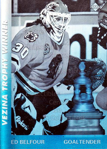 1991-92 Upper Deck Award Winner Holograms #7 Ed Belfour, Vezina Trophy<br/>16 In Stock - $1.00 each - <a href=https://centericecollectibles.foxycart.com/cart?name=1991-92%20Upper%20Deck%20Award%20Winner%20Holograms%20%237%20Ed%20Belfour,%20Vez...&quantity_max=16&price=$1.00&code=11852 class=foxycart> Buy it now! </a>