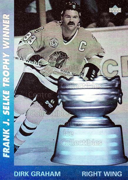 1991-92 Upper Deck Award Winner Holograms #8 Dirk Graham, Selke Trophy<br/>20 In Stock - $1.00 each - <a href=https://centericecollectibles.foxycart.com/cart?name=1991-92%20Upper%20Deck%20Award%20Winner%20Holograms%20%238%20Dirk%20Graham,%20Se...&quantity_max=20&price=$1.00&code=11853 class=foxycart> Buy it now! </a>