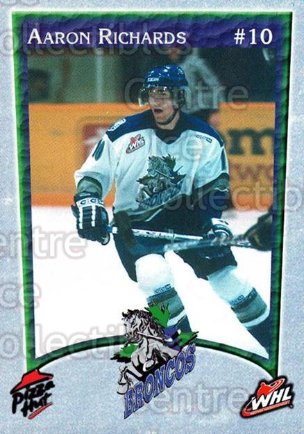 2003-04 Swift Current Broncos #13 Aaron Richards<br/>5 In Stock - $3.00 each - <a href=https://centericecollectibles.foxycart.com/cart?name=2003-04%20Swift%20Current%20Broncos%20%2313%20Aaron%20Richards...&quantity_max=5&price=$3.00&code=118560 class=foxycart> Buy it now! </a>