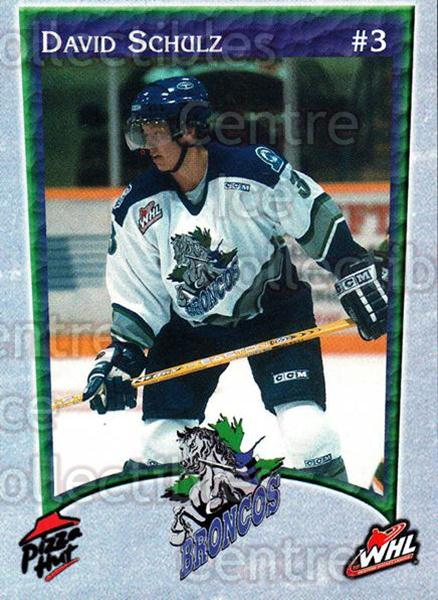 2003-04 Swift Current Broncos #17 David Schulz<br/>5 In Stock - $3.00 each - <a href=https://centericecollectibles.foxycart.com/cart?name=2003-04%20Swift%20Current%20Broncos%20%2317%20David%20Schulz...&quantity_max=5&price=$3.00&code=118564 class=foxycart> Buy it now! </a>