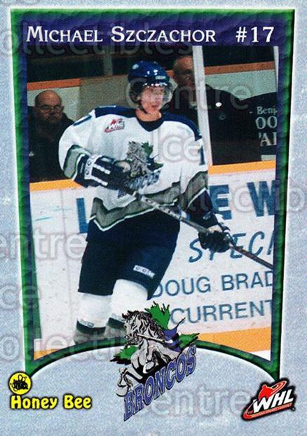 2003-04 Swift Current Broncos #19 Michael Szczachor<br/>1 In Stock - $3.00 each - <a href=https://centericecollectibles.foxycart.com/cart?name=2003-04%20Swift%20Current%20Broncos%20%2319%20Michael%20Szczach...&quantity_max=1&price=$3.00&code=118566 class=foxycart> Buy it now! </a>