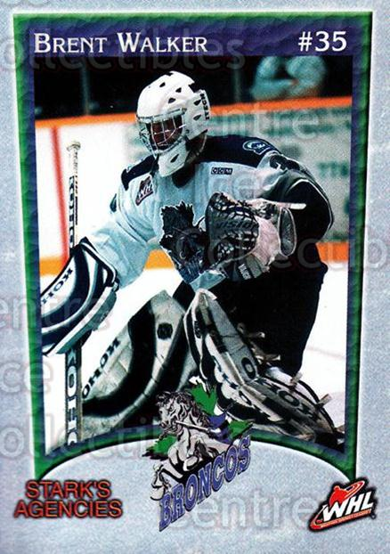 2003-04 Swift Current Broncos #21 Brent Walker<br/>6 In Stock - $3.00 each - <a href=https://centericecollectibles.foxycart.com/cart?name=2003-04%20Swift%20Current%20Broncos%20%2321%20Brent%20Walker...&quantity_max=6&price=$3.00&code=118569 class=foxycart> Buy it now! </a>