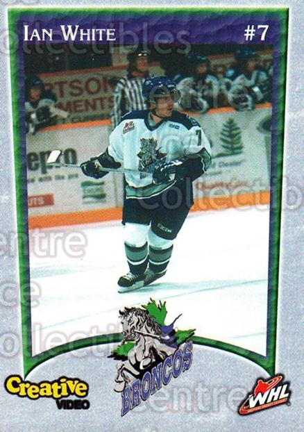 2003-04 Swift Current Broncos #22 Ian White<br/>4 In Stock - $3.00 each - <a href=https://centericecollectibles.foxycart.com/cart?name=2003-04%20Swift%20Current%20Broncos%20%2322%20Ian%20White...&quantity_max=4&price=$3.00&code=118570 class=foxycart> Buy it now! </a>