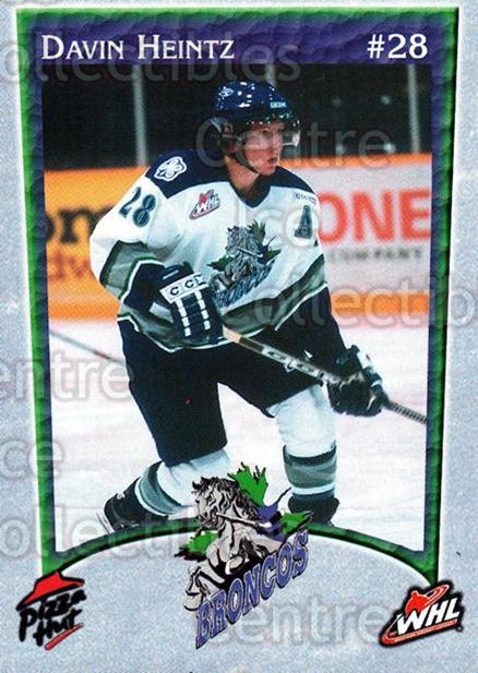 2003-04 Swift Current Broncos #4 Davin Heintz<br/>4 In Stock - $3.00 each - <a href=https://centericecollectibles.foxycart.com/cart?name=2003-04%20Swift%20Current%20Broncos%20%234%20Davin%20Heintz...&quantity_max=4&price=$3.00&code=118574 class=foxycart> Buy it now! </a>