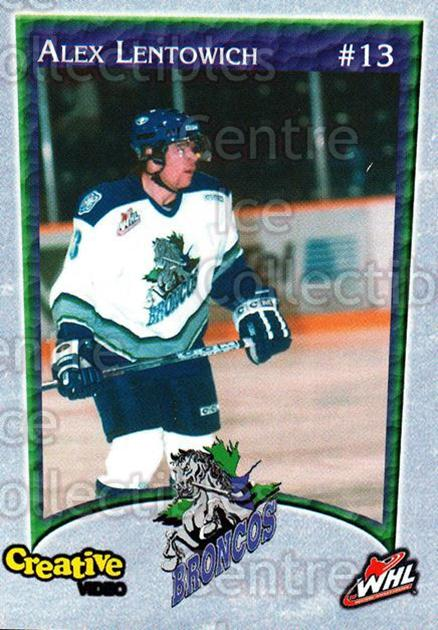 2003-04 Swift Current Broncos #8 Alex Lentowich<br/>6 In Stock - $3.00 each - <a href=https://centericecollectibles.foxycart.com/cart?name=2003-04%20Swift%20Current%20Broncos%20%238%20Alex%20Lentowich...&quantity_max=6&price=$3.00&code=118577 class=foxycart> Buy it now! </a>