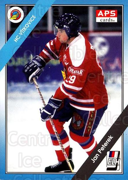 1994-95 Czech APS Extraliga #137 Jan Peterek<br/>2 In Stock - $2.00 each - <a href=https://centericecollectibles.foxycart.com/cart?name=1994-95%20Czech%20APS%20Extraliga%20%23137%20Jan%20Peterek...&quantity_max=2&price=$2.00&code=1186 class=foxycart> Buy it now! </a>