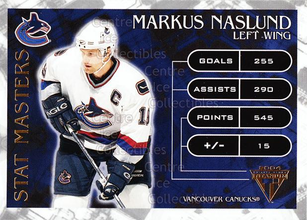 2003-04 Titanium Stat Masters #10 Markus Naslund<br/>5 In Stock - $3.00 each - <a href=https://centericecollectibles.foxycart.com/cart?name=2003-04%20Titanium%20Stat%20Masters%20%2310%20Markus%20Naslund...&quantity_max=5&price=$3.00&code=118708 class=foxycart> Buy it now! </a>